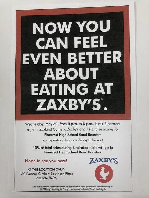 PHS Band students perform at Zaxby's
